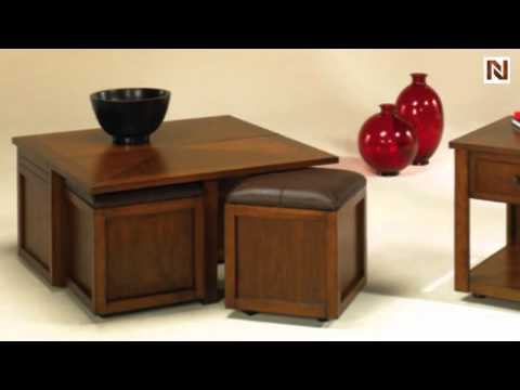Nuance Lift Top Square Cocktail Table W/ Ottoman T2006504 00 By Hammary  Furniture