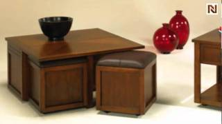 Nuance Lift Top Square Cocktail Table W/ Ottoman T2006504-00 By Hammary Furniture
