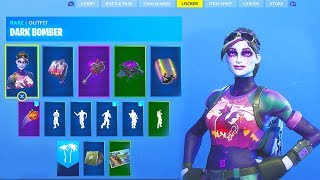 "Fortnite ""Dark Bomber"" Full Set Review - Skin, Dark Bag Back Bling, Thunder Crash Pickaxe,"