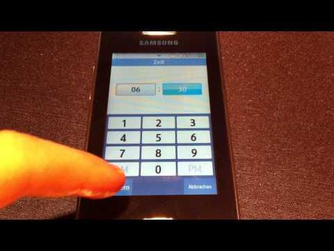Wecker einstellen beim Samsung Star II