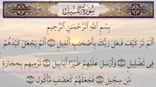 Surah Al Fil 105 Recitation by  Sheikh Mishary Rashid Al Afasy