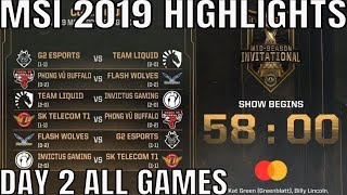 MSI 2019 Highlights ALL GAMES Day 2 Group Stage - Mid Season Invitational 2019
