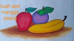 Tutorial Menggambar Dan Mewarnai Buah Menggunakan Crayon How To