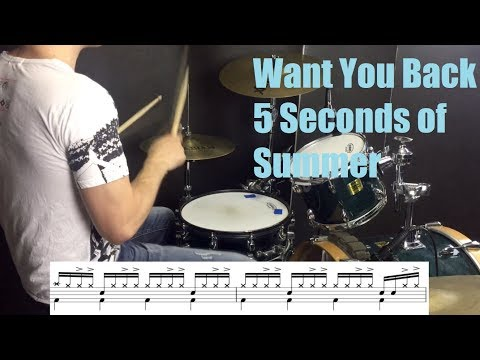 Want You Back Drum Tutorial  5 Seconds of Summer
