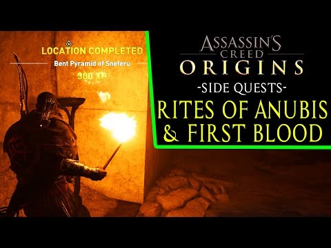 Assassin's Creed: Origins - Rites of Anubis & First Blood (side quests) Bent Pyramid of Sneferu
