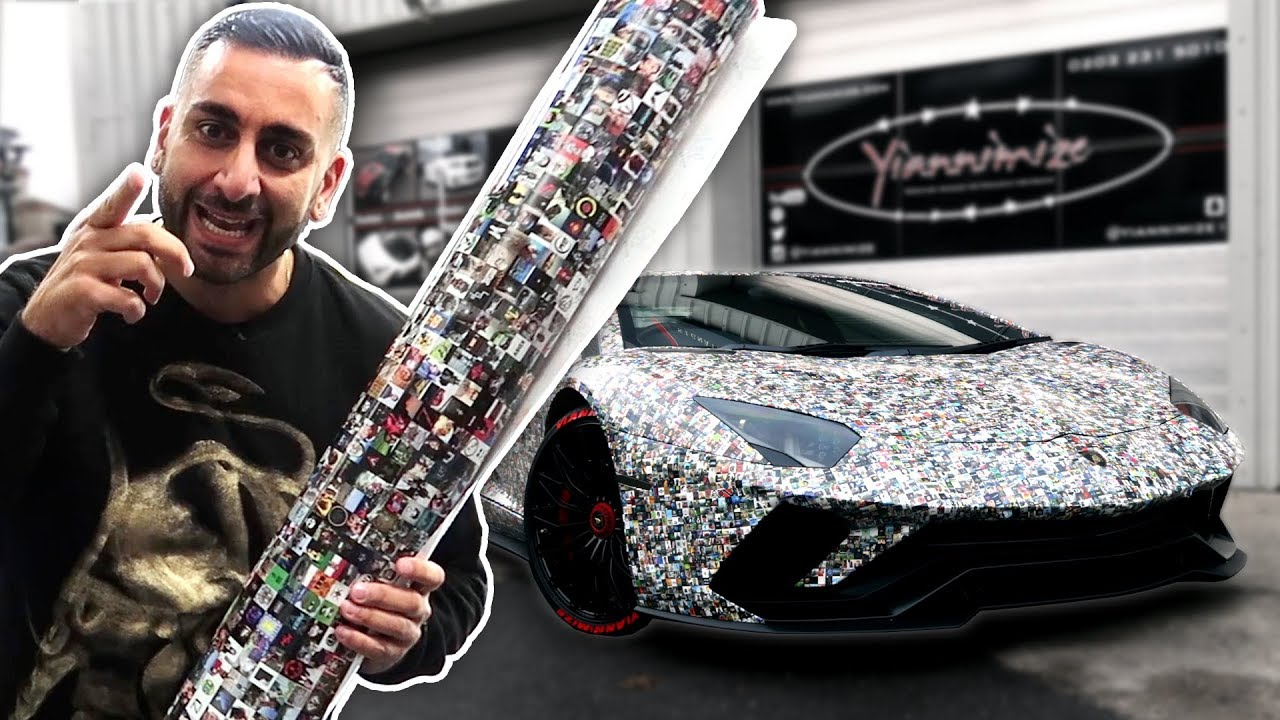 Wow The Amazing Million Subs Car Wrap Youtube
