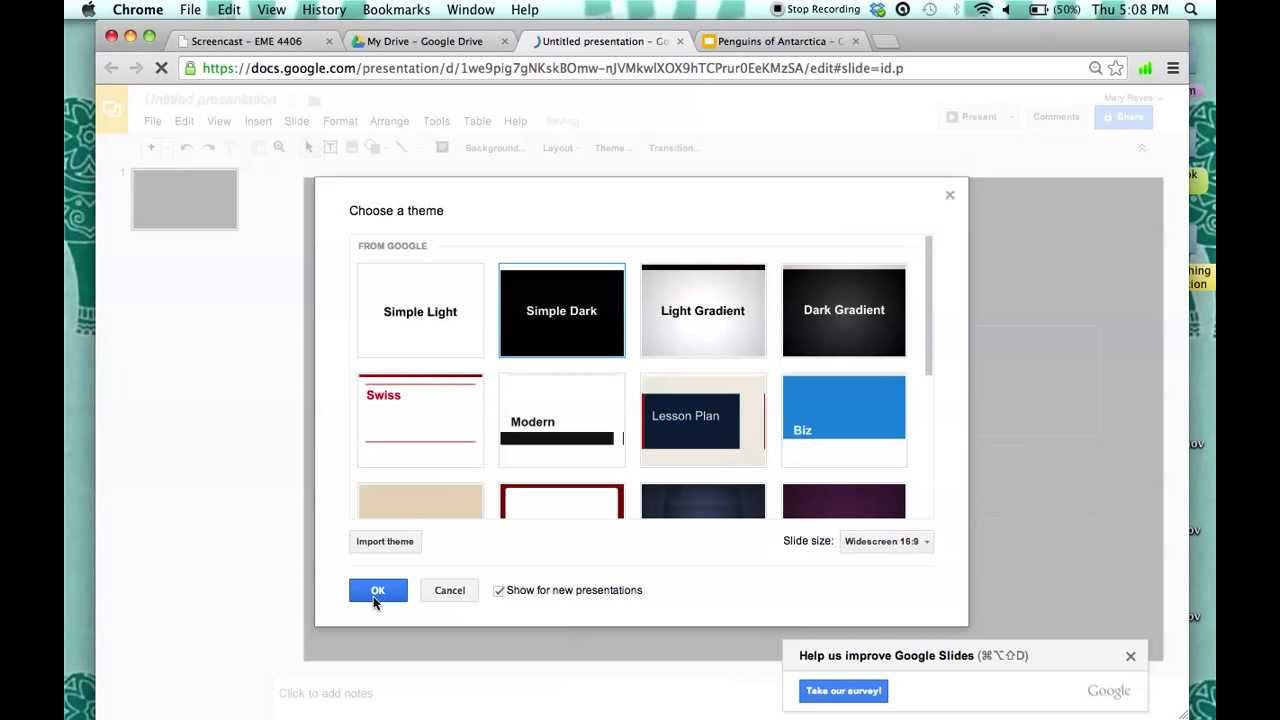 how to make a presentation in google docs youtube