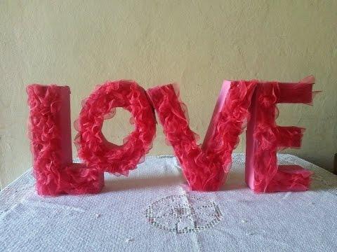 Diy Decoración para San Valentin / Decoration for Valentines Day