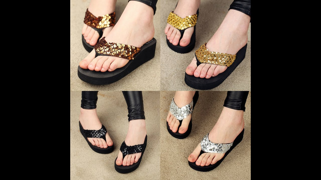 2109e02de DESIGNER FLAT SANDALS FOR WOMEN, WOMEN'S SUMMER FOOTWEAR DESIGNS,  FASHIONABLE CHAPPALS