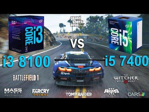 i3 8100 vs i5 7400 Test in 8 Games (GTX 1060)