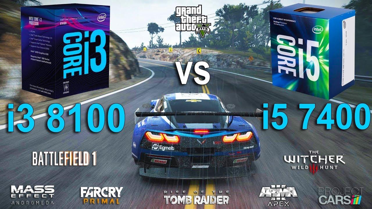 i3 8100 vs i5 7400 Test in 8 Games (GTX 1060) - YouTube