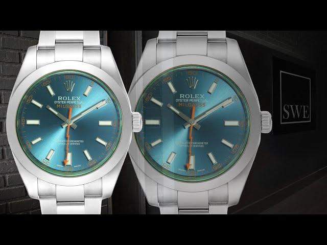 Rolex Milgauss Z Blue Dial Green Crystal Steel Mens Watch 116400 | SwissWatchExpo