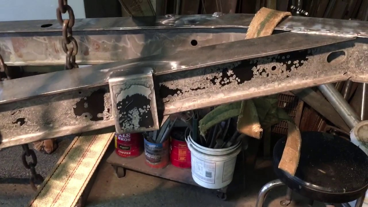 1973 triumph tr6 frame repair - part 9 - youtube