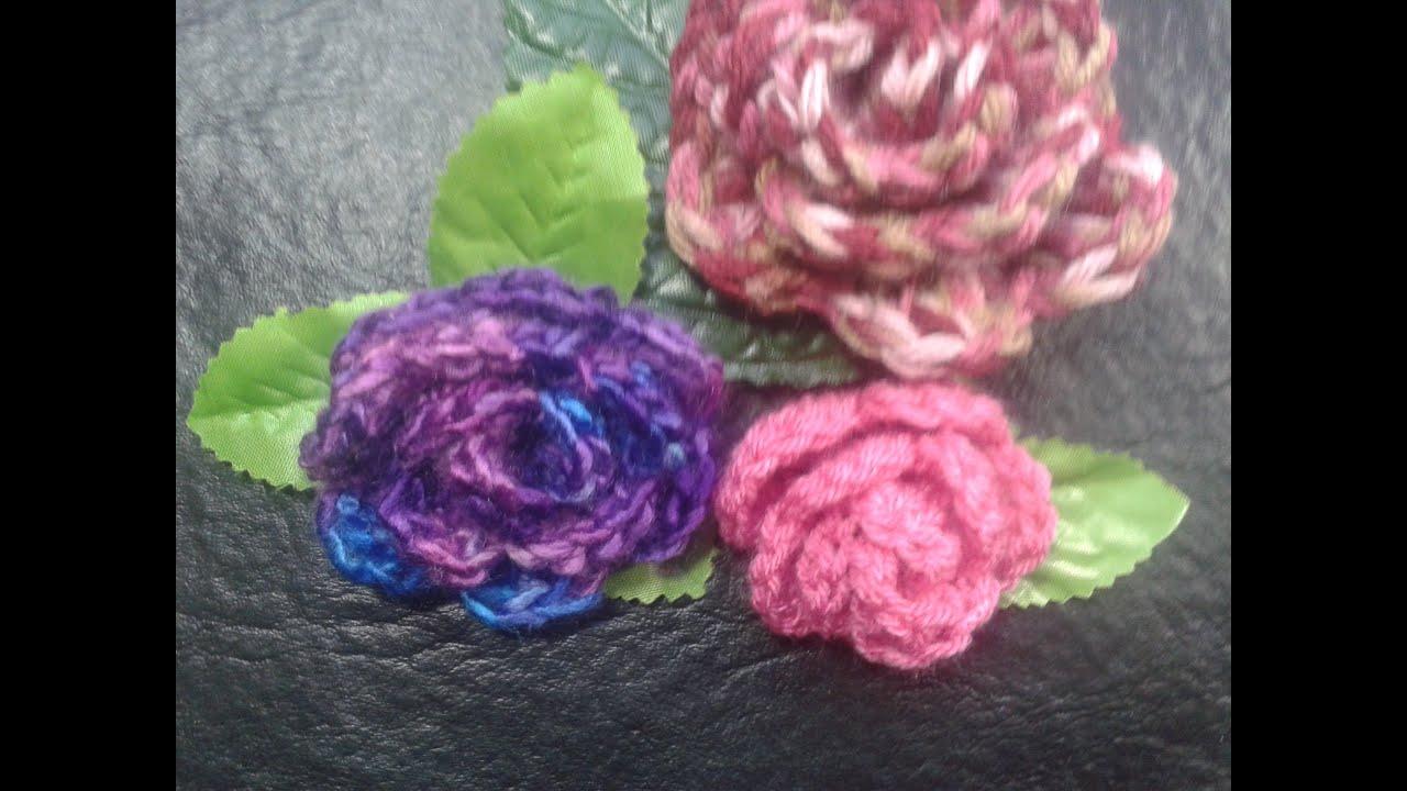 Como tejer rosas al crochet muy facil principiantes - Como tejer mantas al crochet ...