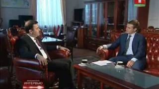 Belarus Channel One Interviews HE Ambassador Haidar Hadi