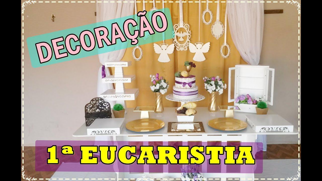 DECORA u00c7ÃO DE PRIMEIRA COMUNHÃO YouTube -> Decoração De Primeira Comunhão Simples Com Flores