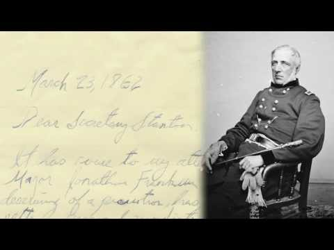 Letter to the Secretary of War