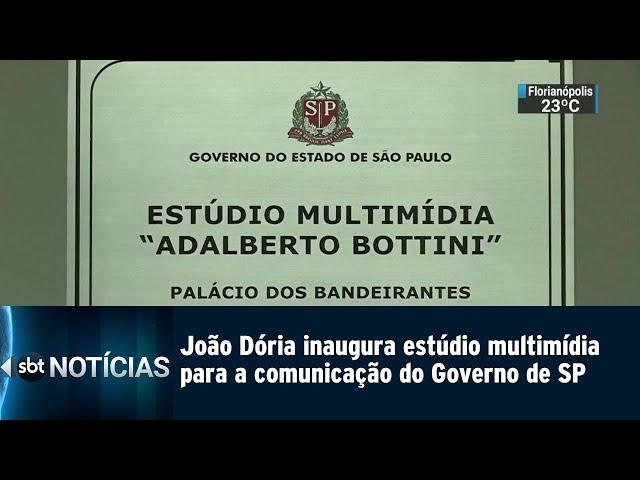 João Dória inaugura estúdio para modernizar a comunicação do governo | SBT Notícias (22/02/2019)