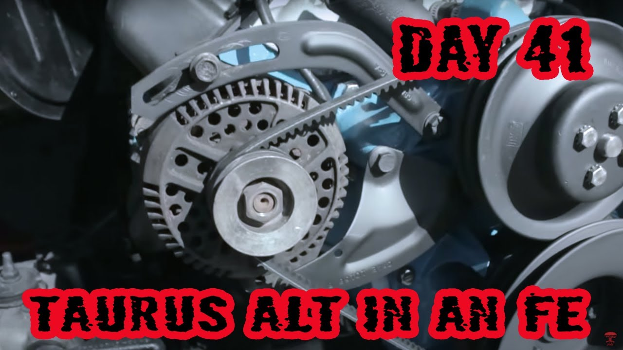 small resolution of ford taurus 130 amp 3g alternator swap for big block fe engine 1973 ford f100 rebuild day 41