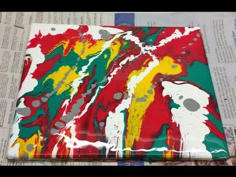 Spray Paint Art by Hellsing mein erstes Bild mit Acryl Fliesstechnik (Resin 1)