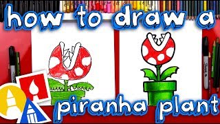 How To Draw A Mario Piranha Plant