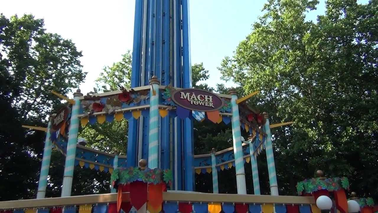 M Ch Tower On Ride Busch Gardens Williamsburg Youtube