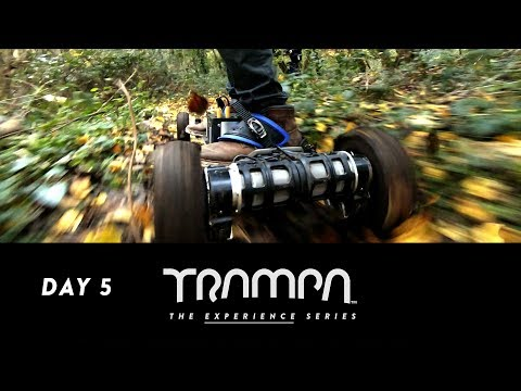 TRAMPA HILL CLIMBS WITH NEW 9 INCH WHEELS - ELECTRIC SKATEBOARD MUDDY ADVENTURE