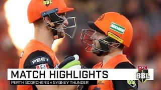 Perth punish sluggish Thunder with whirlwind opening stand | KFC BBL|09