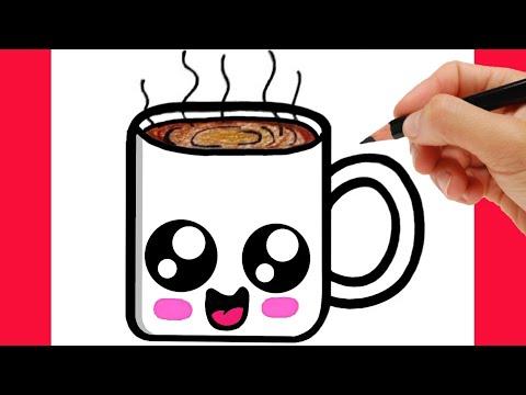 how to draw cup of coffee | drawing cup of coffee / como desenhar um café/ como dibujar un café