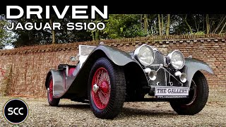 SS JAGUAR 100 Replica 1936 - SS100 / SS 100 - Test drive in top gear - Engine sound | SCC TV