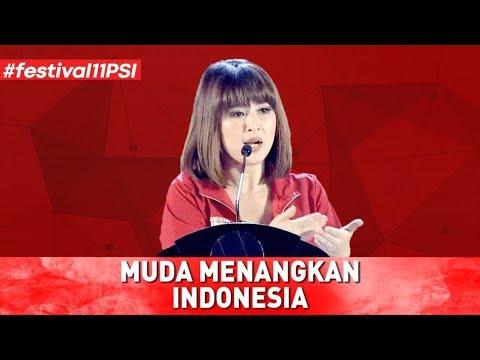MUDA MENANGKAN INDONESIA (PIDATO LENGKAP KETUA UMUM PSI GRACE NATALIE DI FESTIVAL 11)