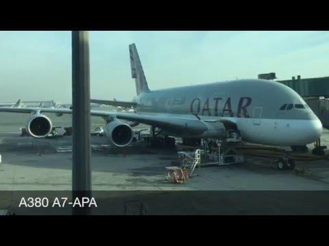 Airbus A380 Qatar 39 A7-APC DOH - CDG