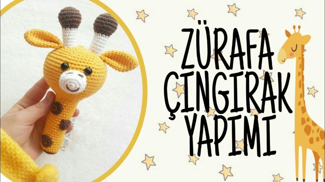 #part2 ZÜRAFA ÇINGIRAK  NASIL YAPILIR?  HOW TO MAKE AMIGURUMI GIRAFFE  RATTLE?