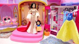 白雪姫プリンセスお姫様 パジャマ 手作りベットルームDIY❤️ミニチュアドールハウス と着せ替えごっこ✨Barbie ドレス 手作り工作 Crafts