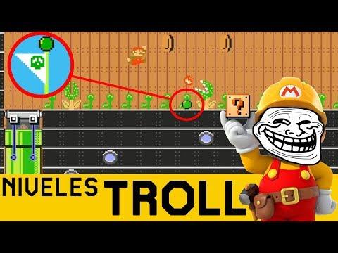 ALEMÁN TROLL HACE DE LAS SUYAS 😲😱 - NIVELES TROLL #17 | Super Mario Maker en Español - ZetaSSJ
