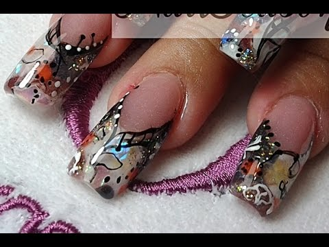 diy acrylic nails step
