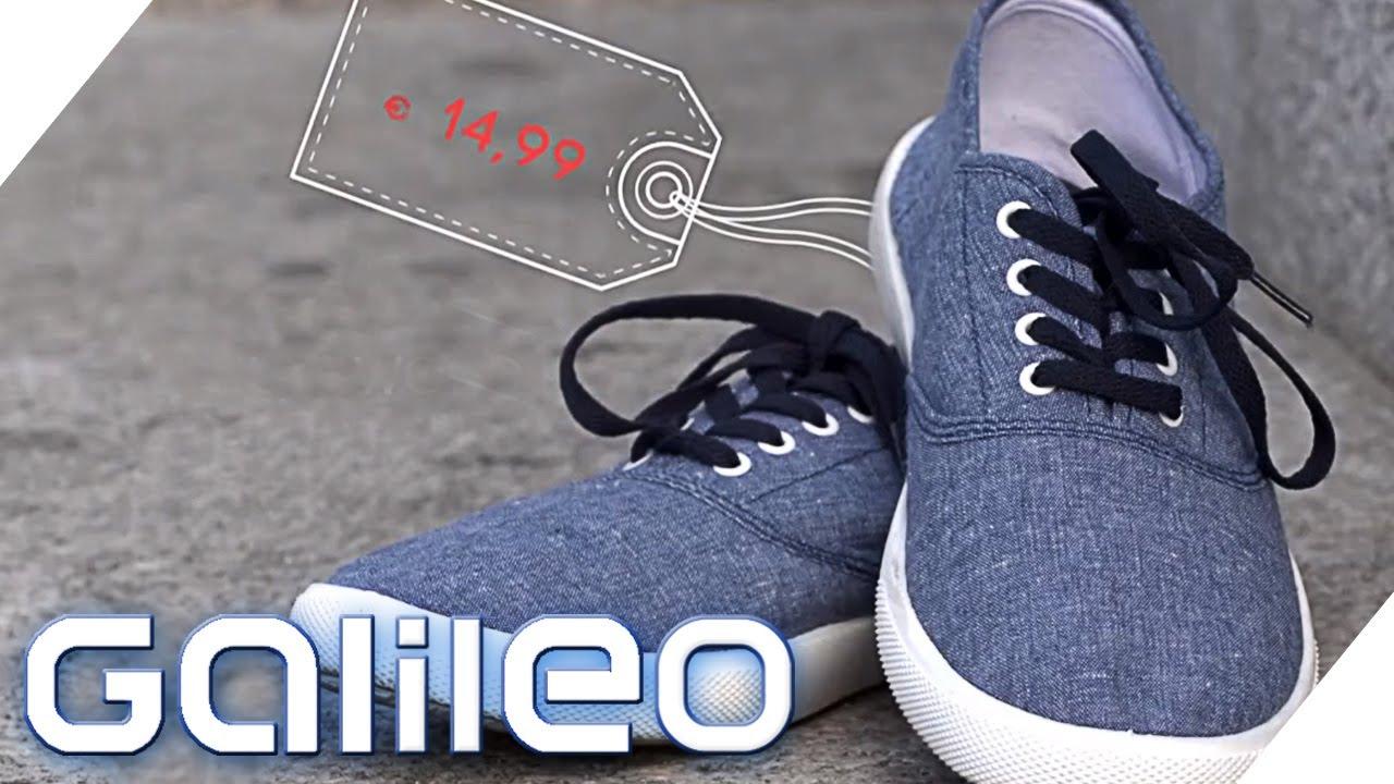 the latest 084b4 2b7ea Wie gut sind billige Schuhe?   Galileo   ProSieben