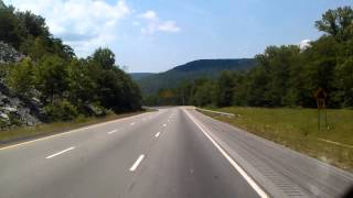 Tennessee Truck Brake Inspection Station on Interstate 24 just East of Monteagle (archive video)
