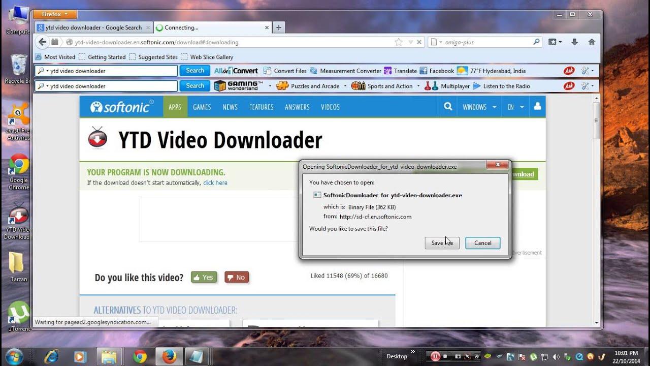 install ytd youtube downloader