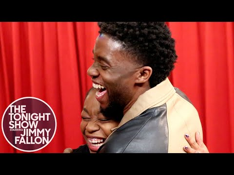 Download Youtube: Chadwick Boseman Surprises Black Panther Fans While They Thank Him