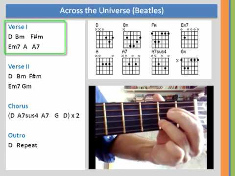 Learn Chords - Across the Universe (Beatles) Cover - YouTube