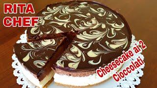 Cheesecake Ai 2 Cioccolati Di Rita Chef - Senza Gelatina.