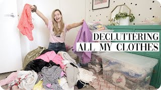 Clean with Me Closet Declutter following Marie Kondo!