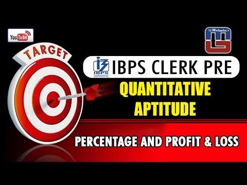 #TARGET |  PERCENTAGE AND PROFIT & LOSS | QUANTITATIVE APTITUDE | IBPS CLERK PRE |