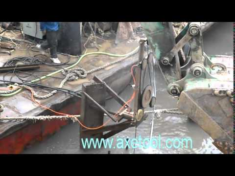 underwater wire saw concrete cutting project video