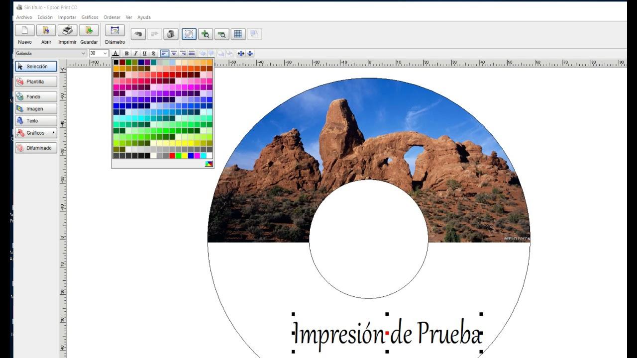 Diseñar Portada CD Epson L810, Print CD