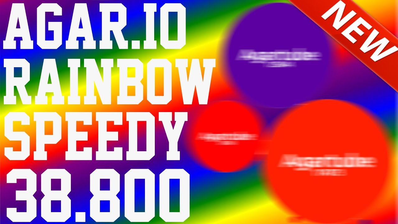 agar io rainbow speedy mode gameplay 38 800 high score youtube