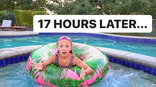 EVERLEIGH SPENDS 24 HOURS IN HER POOL CHALLENGE!!!