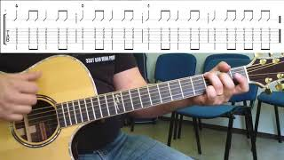 Knocking on Heavens Door Akkorde Schlagmuster Guitar Lesson
