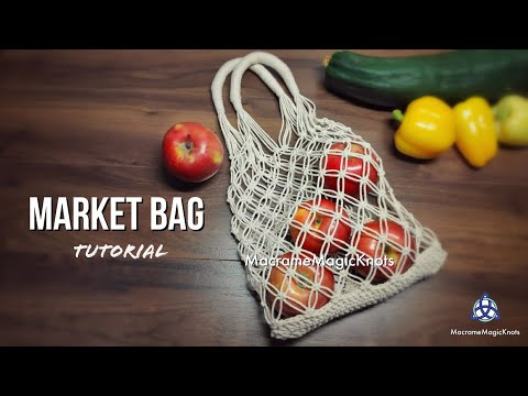 Macrame Market Bag Tutorial | DIY Shopping Bag